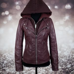 Black Rivet Small Faux Leather Jacket